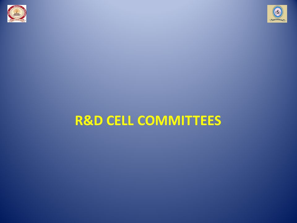 R&D CELL COMMITTEES