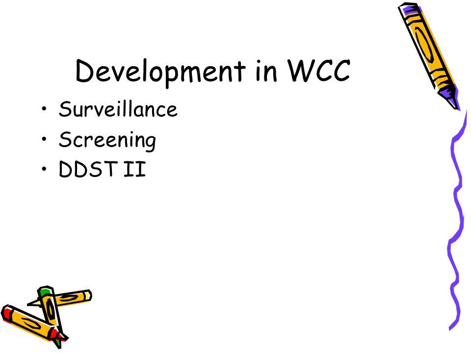 Development in WCC Surveillance Screening DDST II