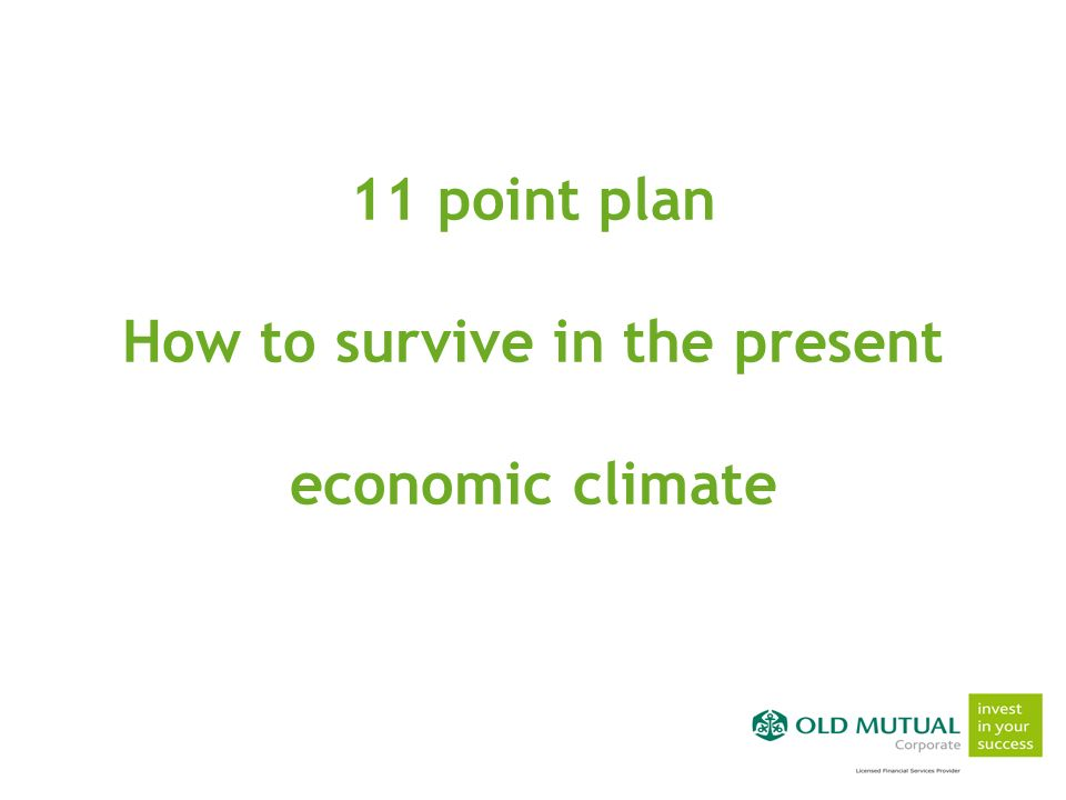 simple solutions for success simple solutions for success simple solutions for success 11 point plan How to survive in the present economic climate