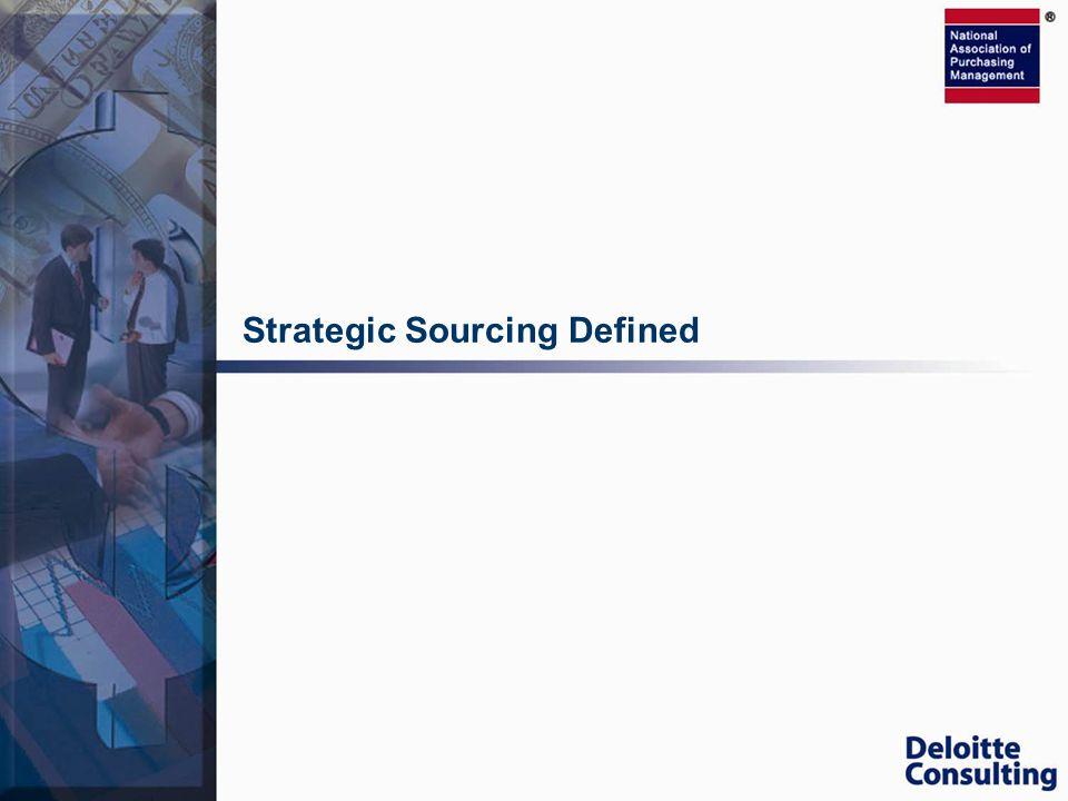 Strategic Sourcing Defined