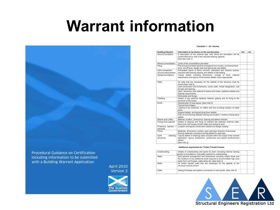Warrant information