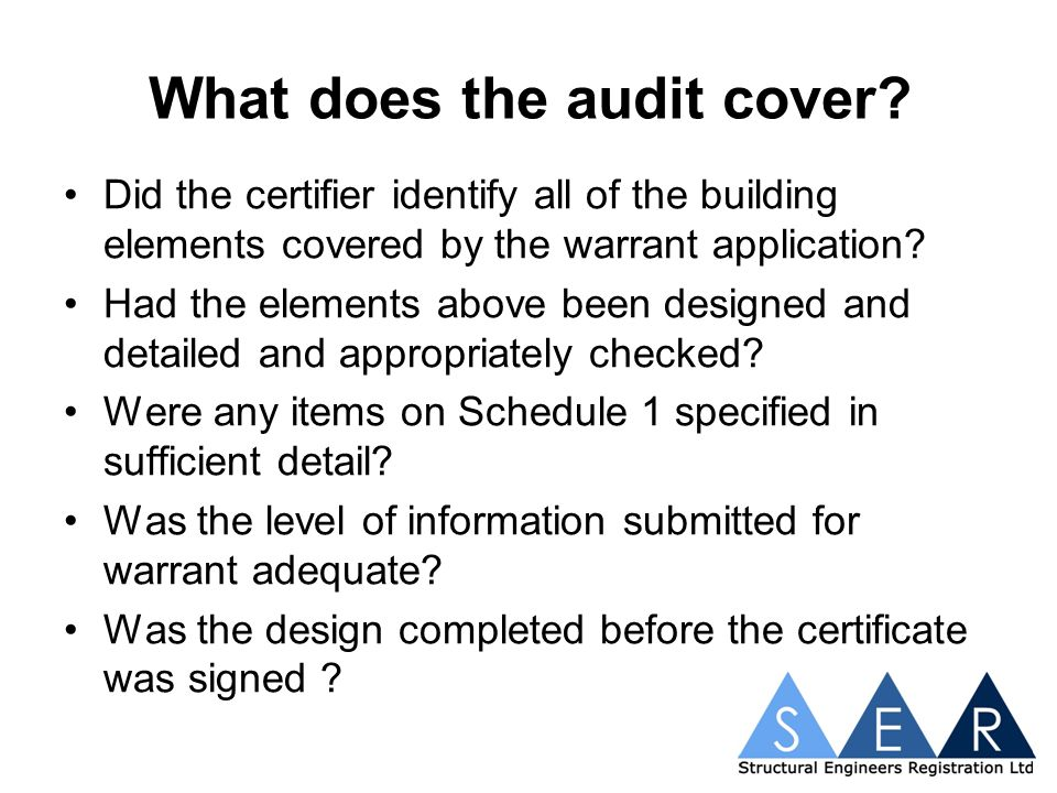 What does the audit cover.