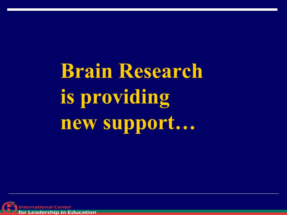 Brain Research is providing new support…