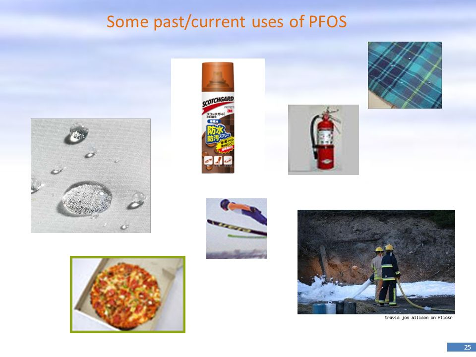25 Some past/current uses of PFOS