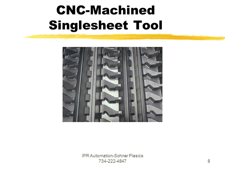 IPR Automation-Sohner Plasics CNC-Machined Singlesheet Tool