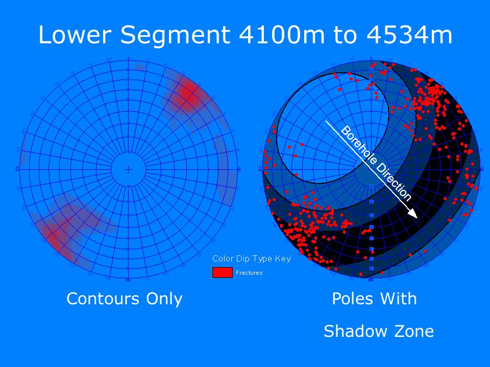 Contours OnlyPoles With Lower Segment 4100m to 4534m Shadow Zone