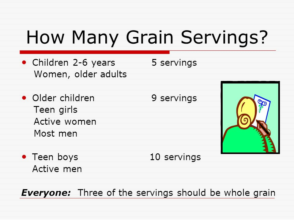 How Many Grain Servings.