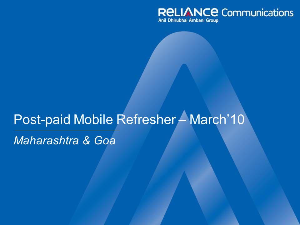 Post-paid Mobile Refresher – March10 Maharashtra & Goa