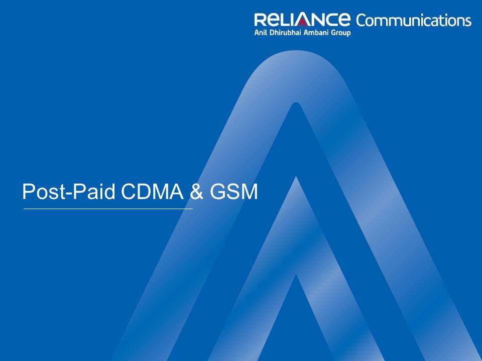 Post-Paid CDMA & GSM