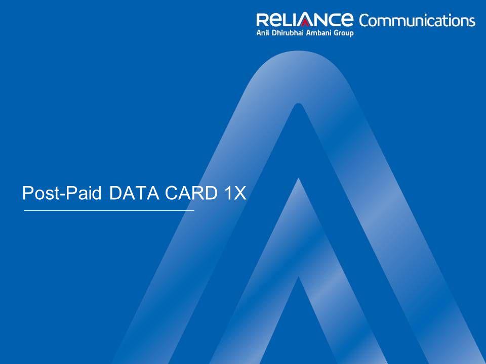 Post-Paid DATA CARD 1X