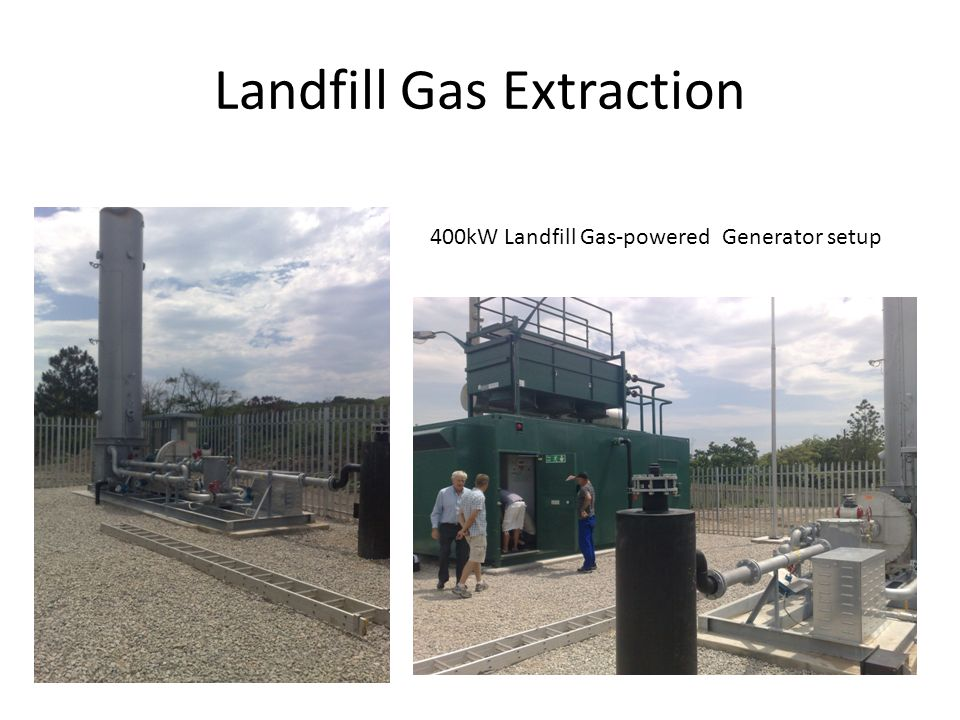 Landfill Gas Extraction 400kW Landfill Gas-powered Generator setup