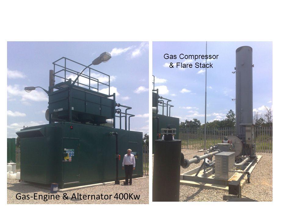 Gas-Engine & Alternator 400Kw Gas Compressor & Flare Stack