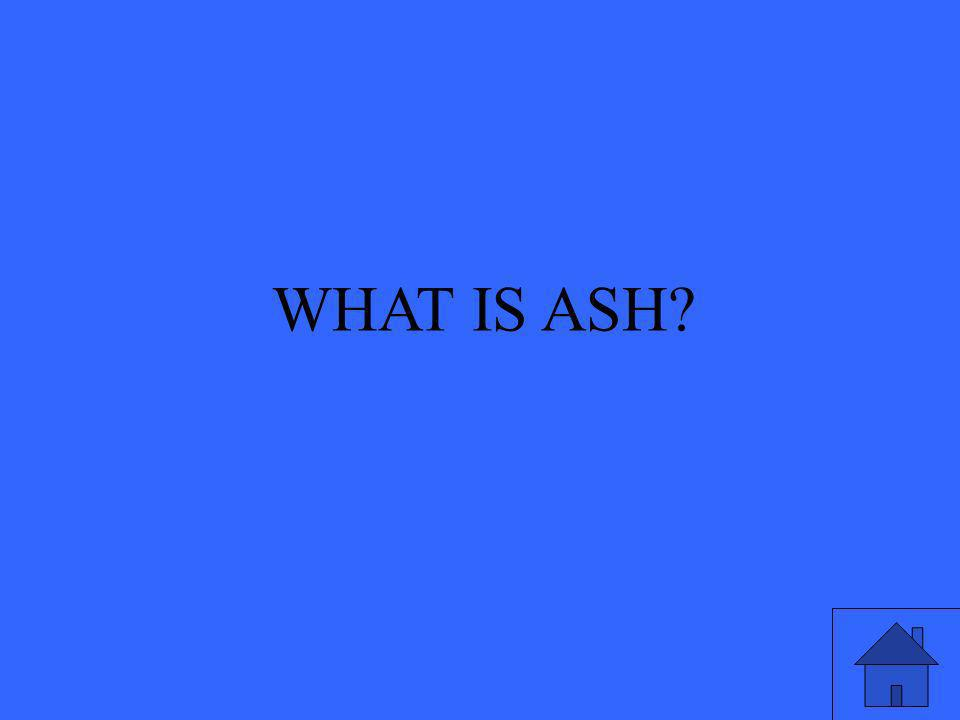 WHAT IS ASH