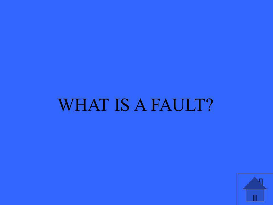 WHAT IS A FAULT