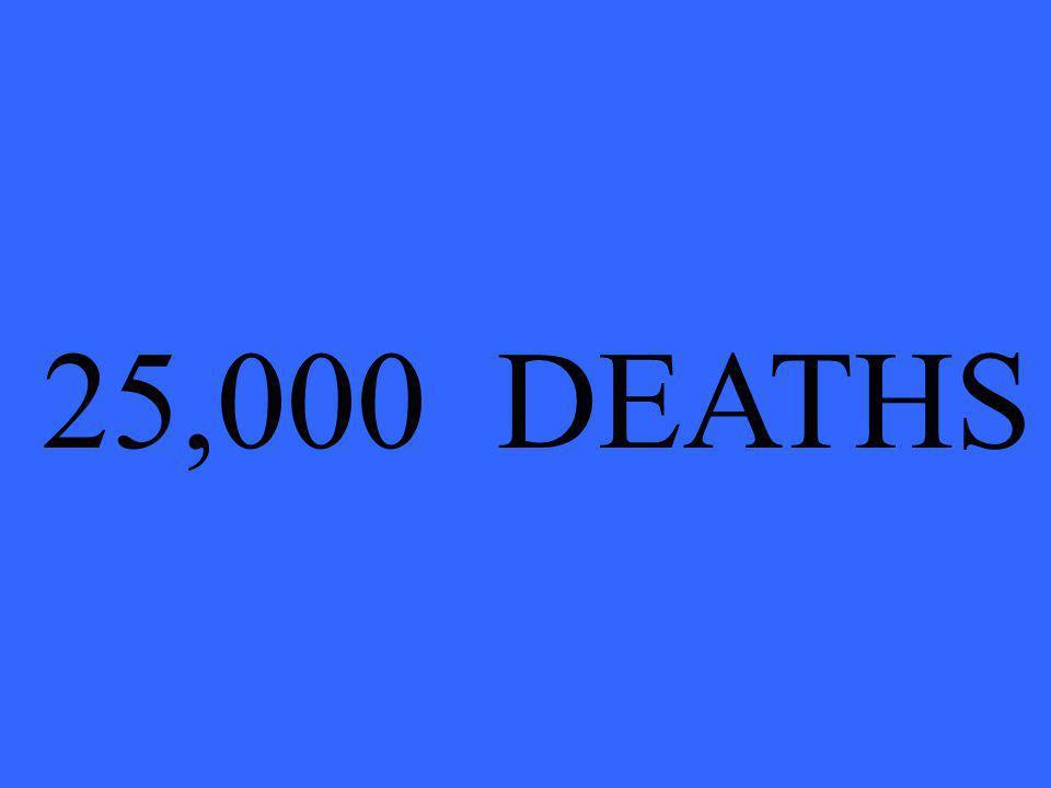 25,000 DEATHS