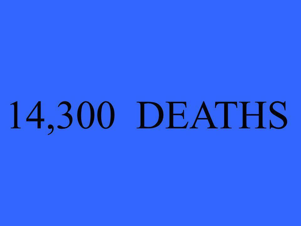 14,300 DEATHS
