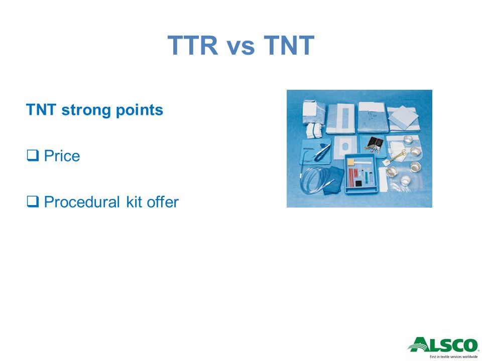 TTR vs TNT TNT strong points Price Procedural kit offer