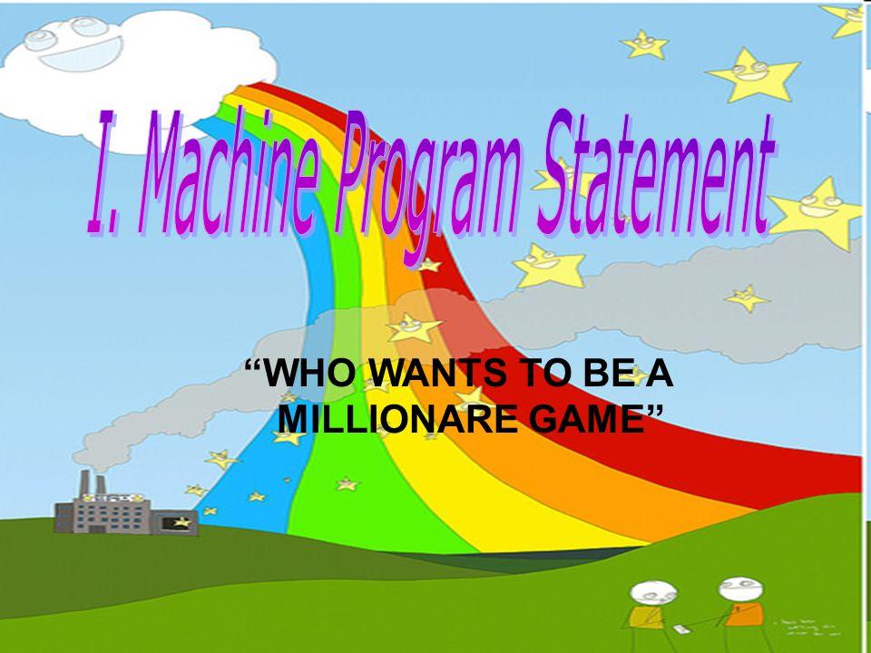 } cout<< ang pera mo ay P <<money<<endl; system( PAUSE ); system( CLS ); cout<< pangapat na tanong\n\n //4th question// << kung si Marcos ang naging diktador ng Pilipinas, sino naman sa Alemanya?\n << a) Bonepart\t\tc) Hitler\n << b) King Philip\t\td) Magellan\n ; do { cin>>ans; if (ans== c ) { cout<< you are correct <<endl; money=money+10000; } else if((ans== b )  (ans== a )  (ans== d )) { cout<< game over <<endl; money=10000; cout<< your money is <<money; exit(); } else if(ans== p ) { if (help2<=0) cout<< wala ka nang natitirang 50-50\n << do you want to take the money or continue the game?\n << press [t] to take the money and and [y] to continue\n ;