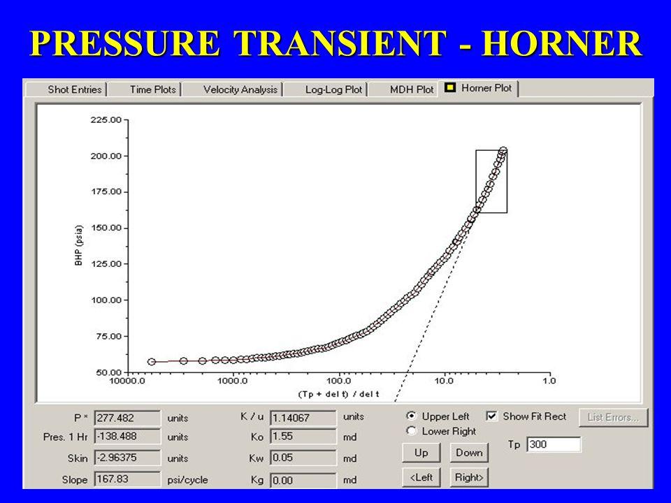 PRESSURE TRANSIENT - HORNER