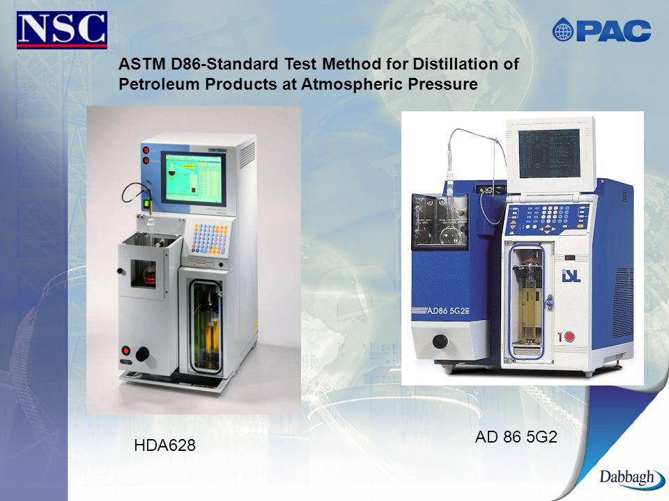 ASTM D86-Standard Test Method for Distillation of Petroleum Products at Atmospheric Pressure HDA628 AD 86 5G2