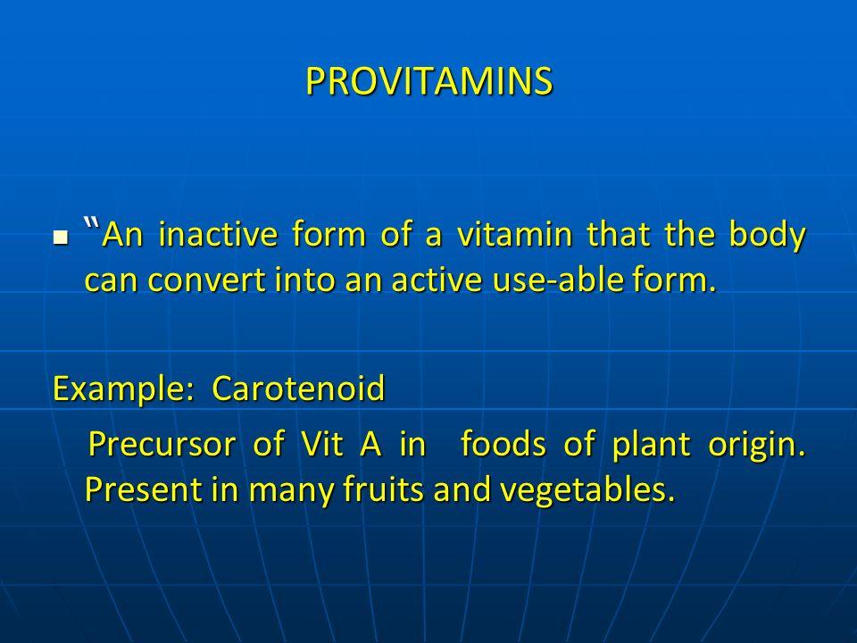 Major Role of Vitamins: Antioxidants Coenzymes Antioxidants Coenzymes Vit E 8 B-Vitamins Vit E 8 B-Vitamins Vit C Vision Vit C Vision Carotenoids Vit A Carotenoids Vit A Bone Health Blood Clotting Bone Health Blood Clotting Vit D Vit K Vit D Vit K Vit K Vit K