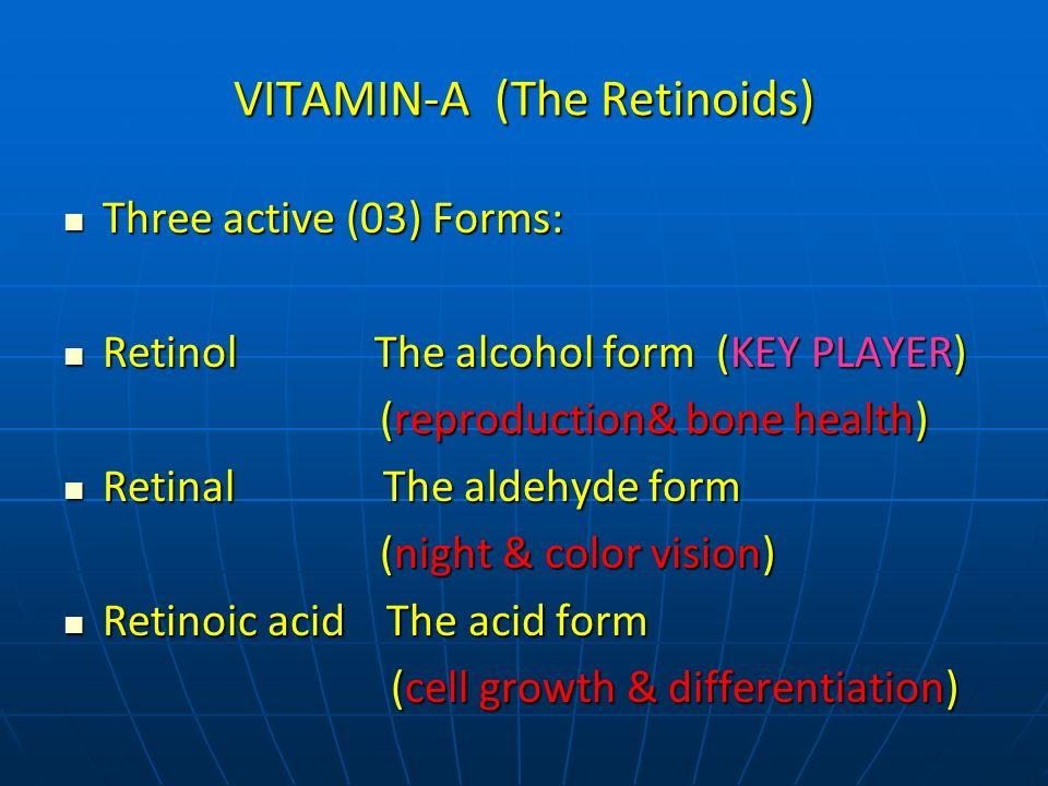 Vitamin A interconversions Retinol RetinalRetinoic acid