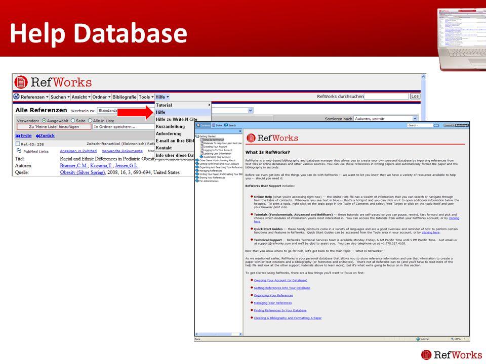 Help Database
