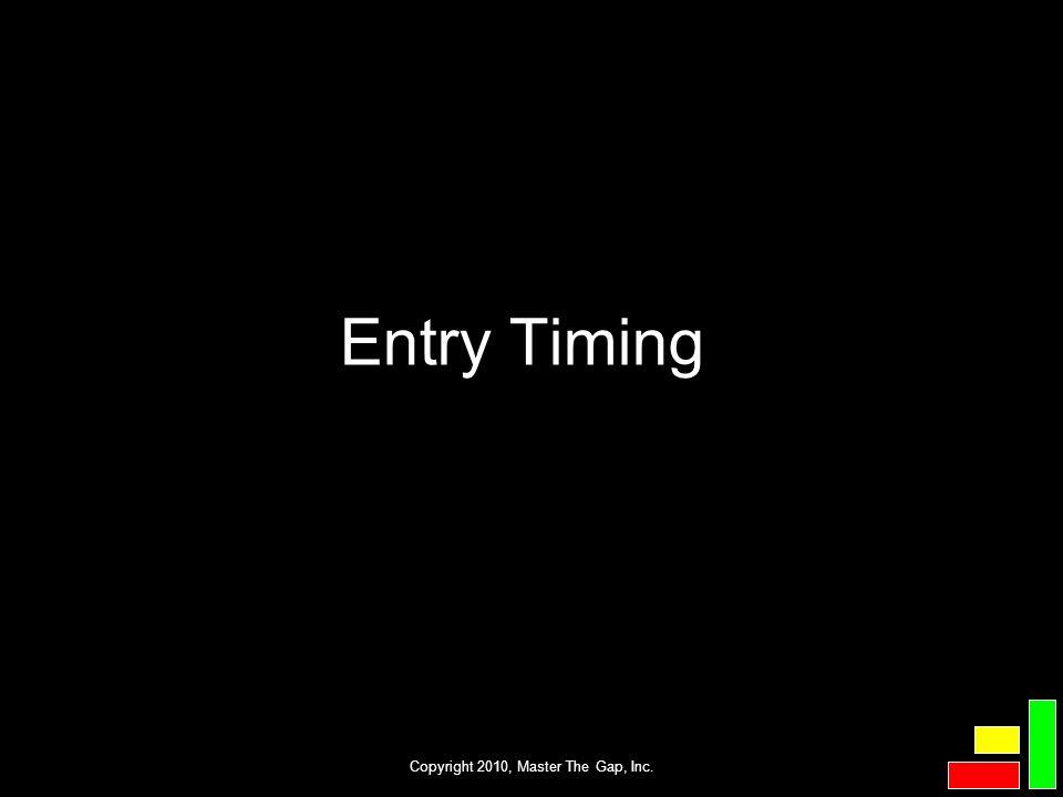 Copyright 2010, Master The Gap, Inc. Entry Timing