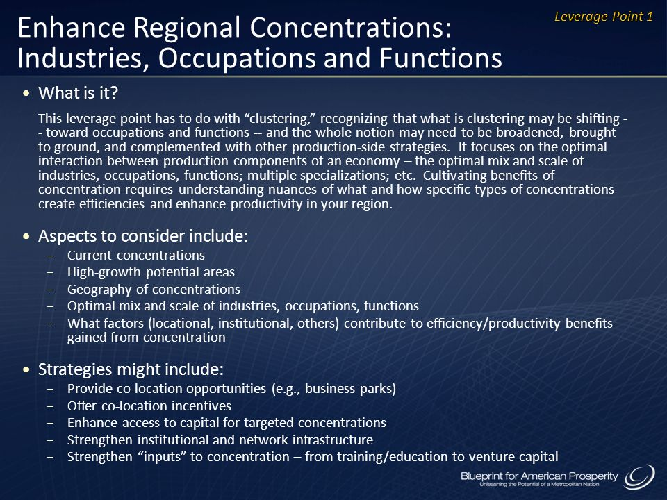 Enhance Regional Concentrations: Industries, Occupations and Functions What is it.