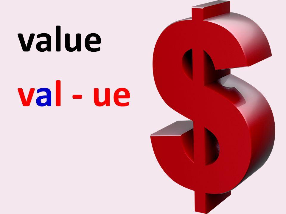 value val - ue