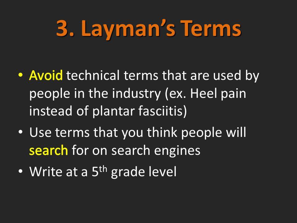 3. Laymans Terms