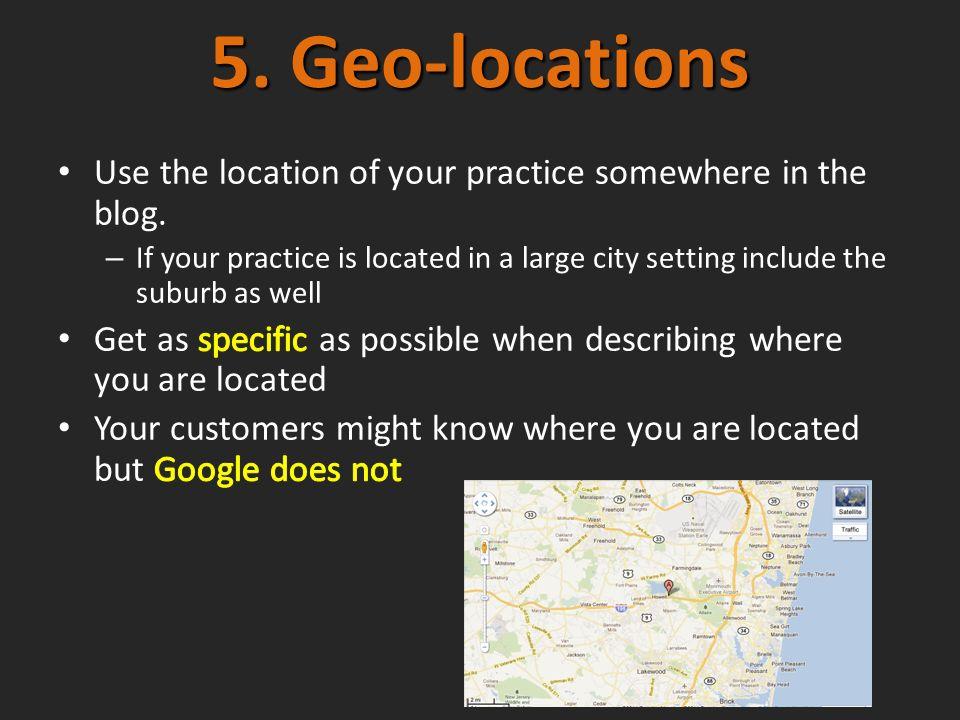 5. Geo-locations