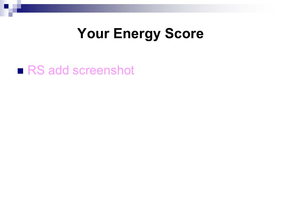 Your Energy Score RS add screenshot