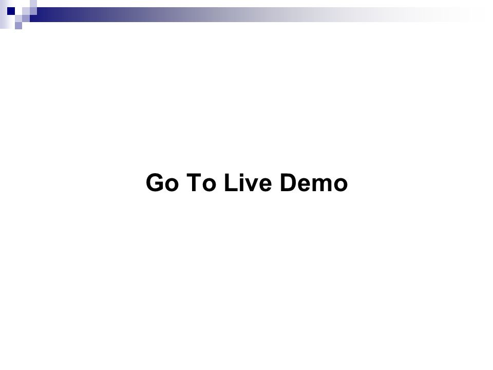 Go To Live Demo