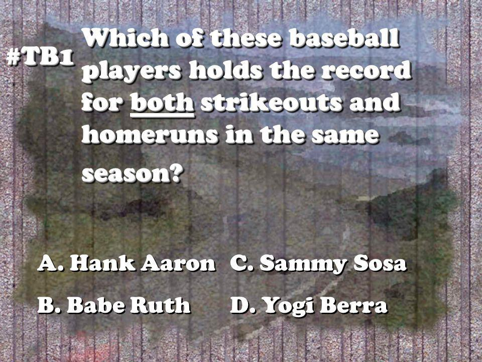 Which of these baseball players holds the record for both strikeouts and homeruns in the same season.