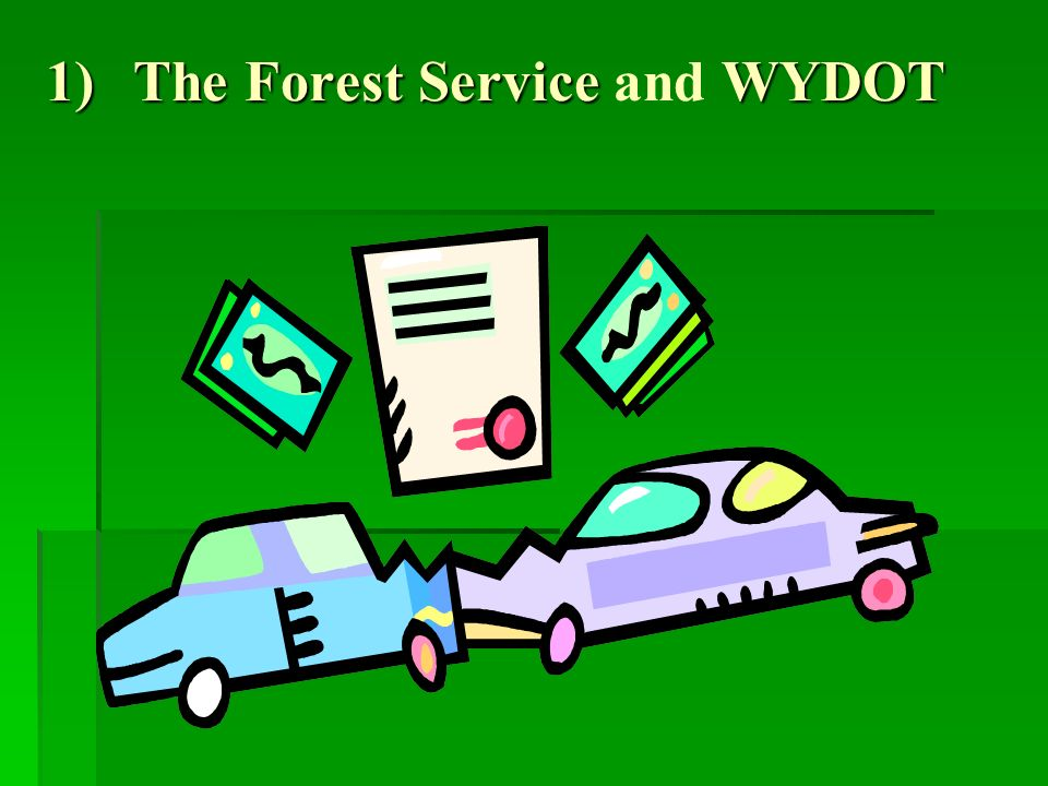 1)The Forest Service WYDOT 1)The Forest Service and WYDOT