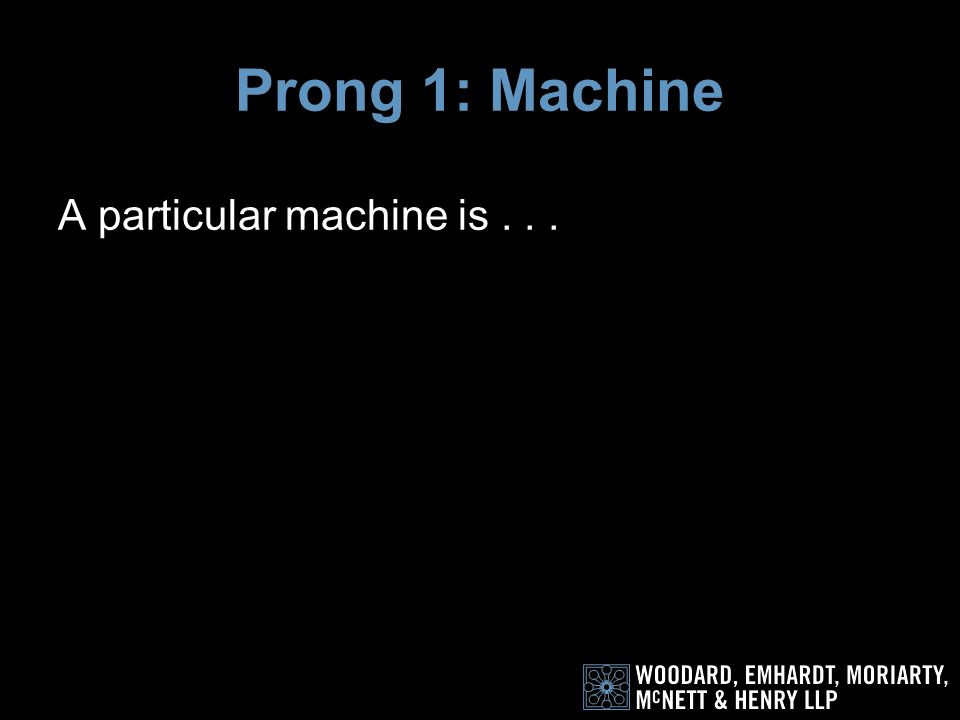 So what is a particular machine
