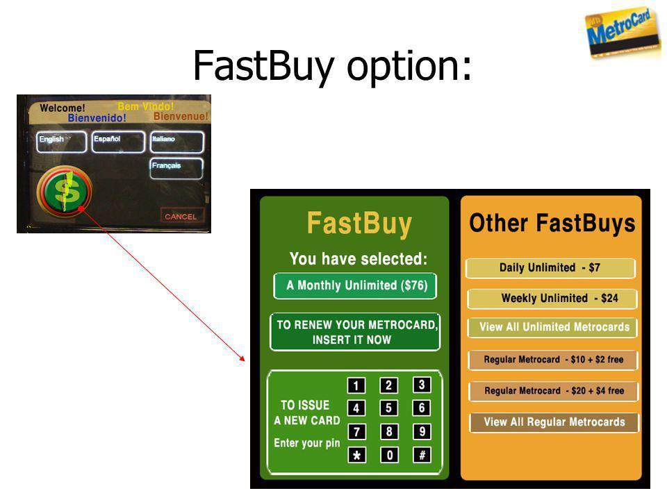 FastBuy option: