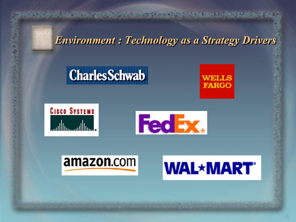 6 Environment : Technology as a Strategy Drivers