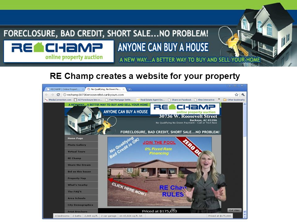 RE Champ creates a website for your property