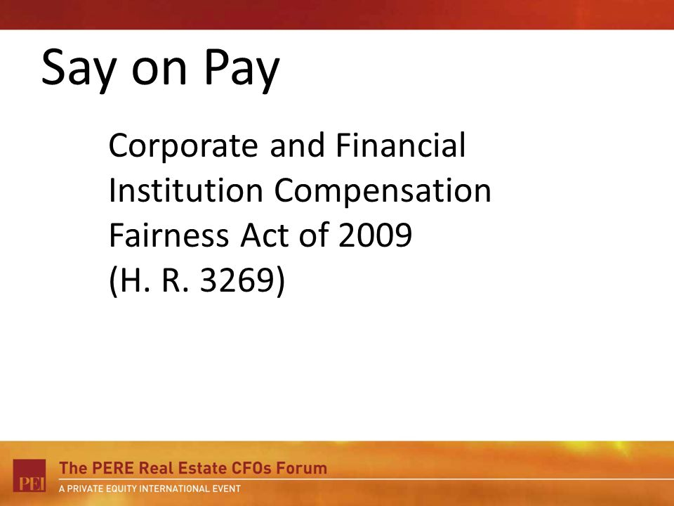 Corporate and Financial Institution Compensation Fairness Act of 2009 (H. R. 3269)