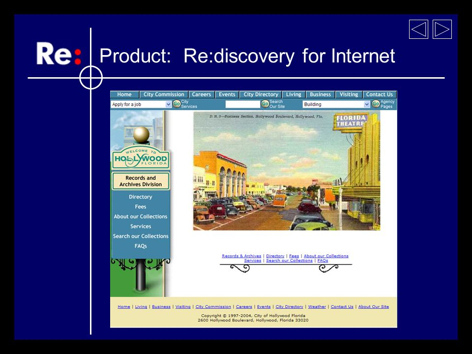 Product: Re:discovery for Internet Postcard