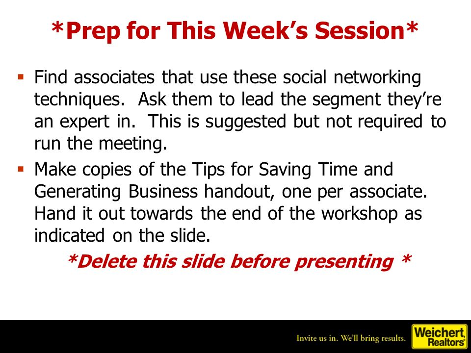 *Prep for This Weeks Session* Find associates that use these social networking techniques.