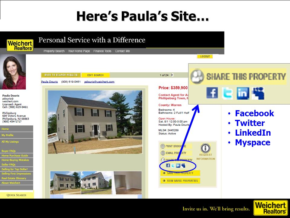 Heres Paulas Site… Facebook Twitter LinkedIn Myspace