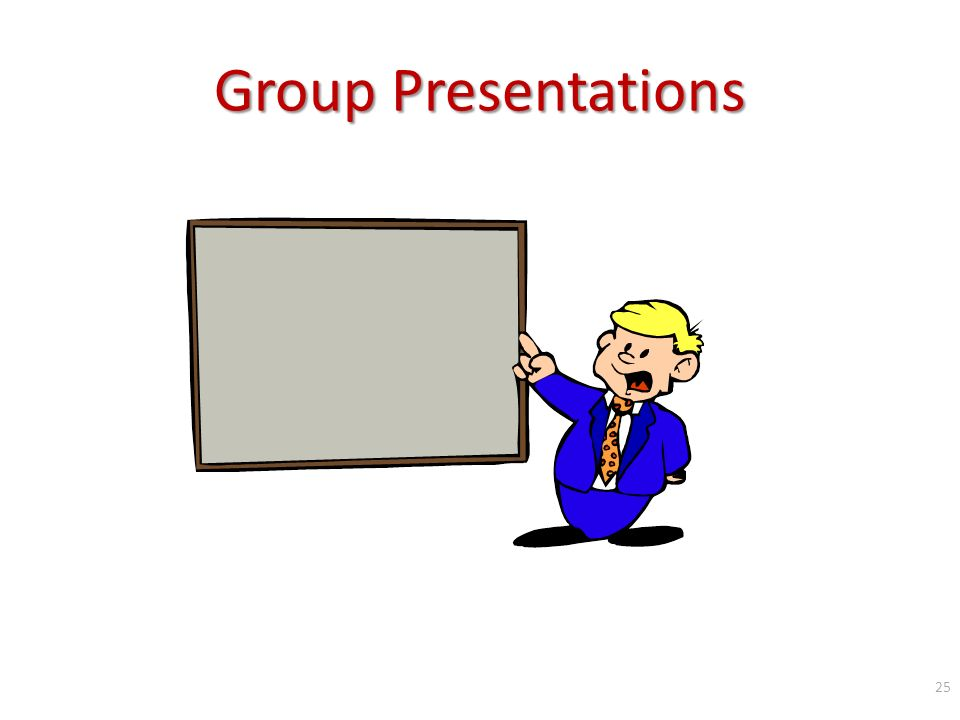 Group Presentations 25