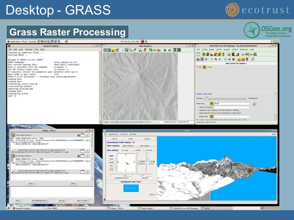 Desktop - GRASS Grass Raster Processing