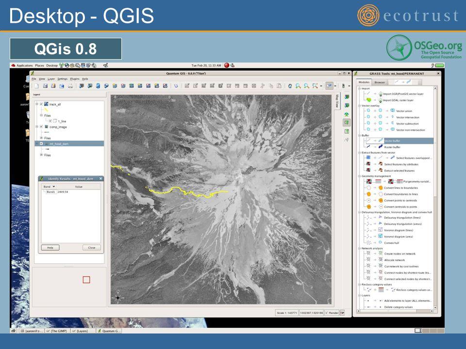 Desktop - QGIS QGis 0.8
