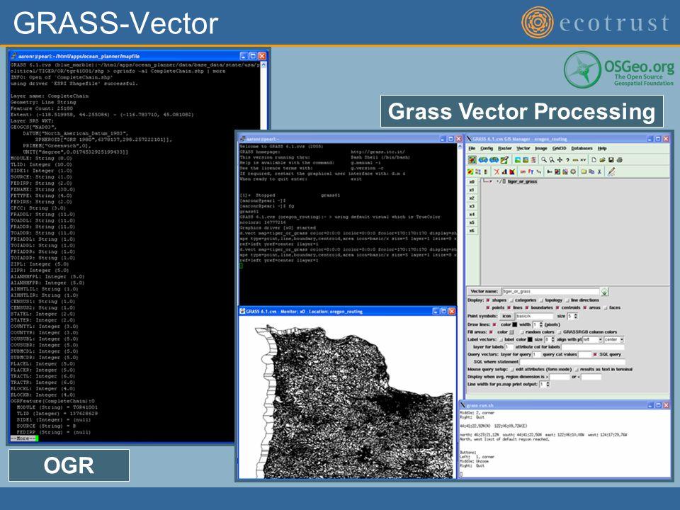 GRASS-Vector OGR Grass Vector Processing