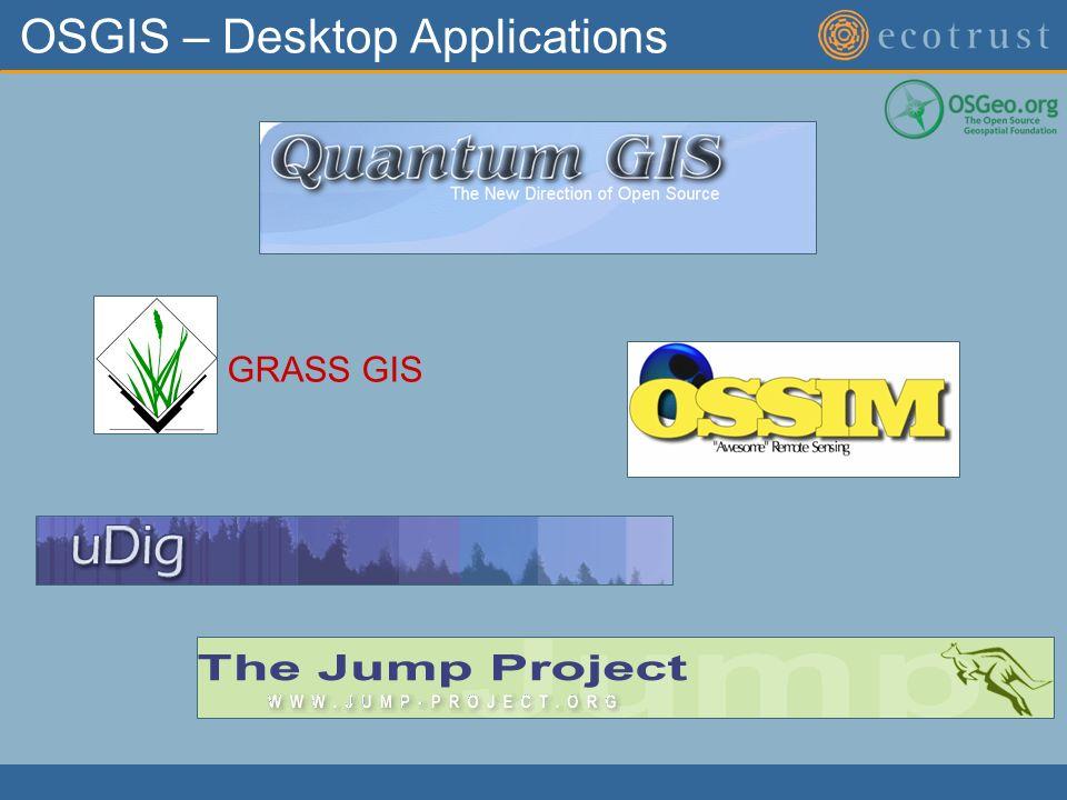 OSGIS – Desktop Applications GRASS GIS