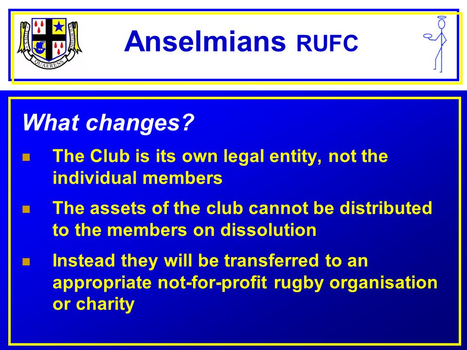 Anselmians RUFC What changes.